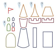 how to draw your own castle. Would also make a great felt craft, felt board for preschool room!