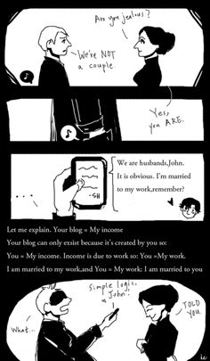 this is so adorable I love Johnlock