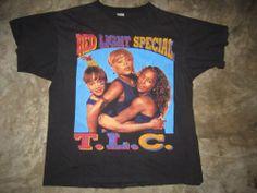 vintage TLC 1995 tour t shirt concert hip hop RARE 90s