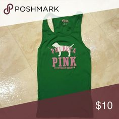 Victoria's Secret pink tank tops Green Victoria's Secret tank top great shape PINK Victoria's Secret Tops Tank Tops