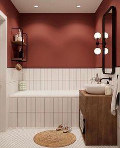 Home Interior Design Cor das paredes.Home Interior Design Cor das paredes Bad Inspiration, Bathroom Inspiration, Creative Inspiration, Bathroom Wall, Small Bathroom, Bathroom Ideas, Bathroom Organization, Remodel Bathroom, Minimal Bathroom