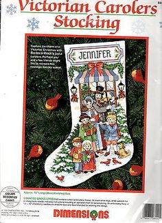 Dimensions Cross Stitch Kit VICTORIAN CAROLERS CHRISTMAS STOCKING 8442 16'' MIP