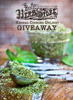 Giveaway: Herbal Cooking Delight | Bulk Herb Store Blog | Enter for a chance to win 5 bags of culinary herbs this week!