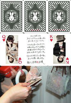 shun yonemura  usagiwedding thankscard It Works, Playing Cards, Graphic Design, Playing Card Games, Nailed It, Game Cards, Visual Communication, Playing Card