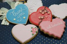 'Heart' wedding cookie favor by BridalCookie, via Flickr