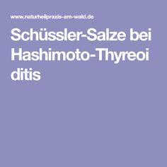 Schüssler-Salze bei Hashimoto-Thyreoiditis