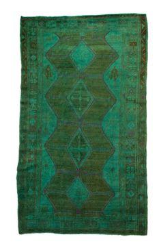 Smaragdgrün 5 × 8 Overdyed geometrische Perserteppich 2691