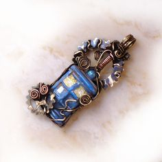 Dr Who TARDIS Pendant Gearing Up by ChaseDesign on Etsy