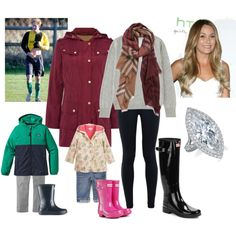 Duchess and Children watching Harry and William play Football by royal-fashion on Polyvore featuring polyvore, fashion, style, Uniqlo, Barbour, NIKE, Hunter, Burberry, Patagonia and Lauren Ralph Lauren