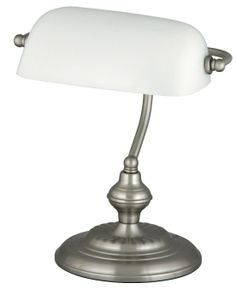 lampa de birou BANK 4037 abajur orientabil alb, marca RabaLux Decor, Vintage, Lamp, Lighting, Novelty Lamp, Home Decor