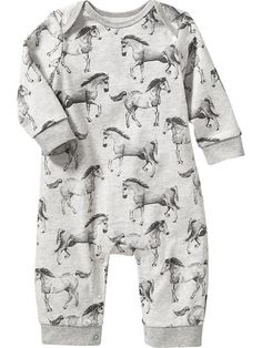 Horse-Print One-Pieces for Baby Product Image