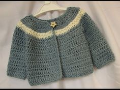 VERY EASY crochet cardigan / sweater / jumper tutorial - baby and child sizes - YouTube