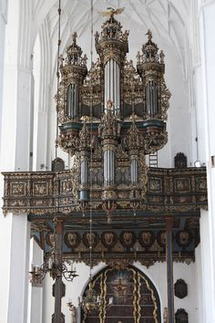 Spectacular organ in Kościół Mariacki (Marian Church) in Gdańsk, Poland.
