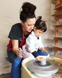 alisaburke- a pottery play date with my entire family!