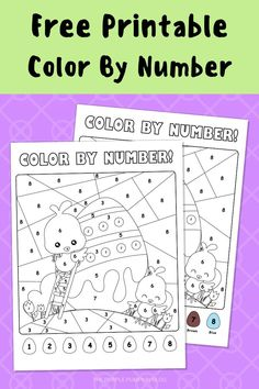 Printable Activities For Kids, Easter Printables, Easter Activities, Book Activities, Free Printables, Easter Bunny Colouring, Easter Coloring Pages, Color By Number Printable, Printable Numbers