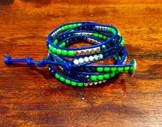 Seattle Seahawks Inspired Wrap Bracelet #seattleseahawks #wrapbracelets #wrapbracelet #seahawks #myteamwraps #teamwraps