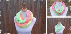 Striped Neon Infinity Scarves – 4 Colors! at VeryJane.com