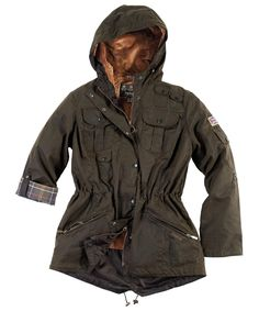 Womens Barbour Winter Force Waxed Parka Jacket | Barbour's Dedicated Online Shop for Barbour Clothing