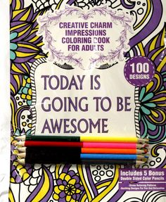 Creative Charm Impressions Coloring Book For Adults Set 1 is available at Scrapbookfare.