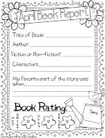 April Book Report Freebie - Includes 3 options ALL free :)