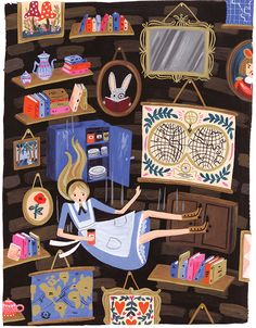 aculturedpearl:Alice in Wonderland, as illustrated by the amazing Anna Bond  [Collage ideas]