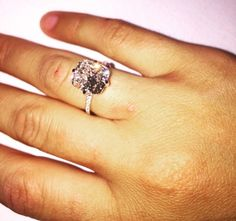 Smaller version of Kim Kardashian West's ring