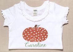 Girls Pumpkin Shirt-Custom Girl Halloween Shirt-Girls Pumpkin Shirt-Girls Fall Shirt-Cute Kid Clothes-Fall Kid Clothes-Monogram Girls Top