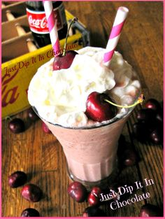 Just Dip It In Chocolate: Cherry Cola Smoothie Recipe