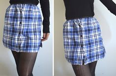 studs and pearls: diy: Plaid Flannel Skirt (from button up!)