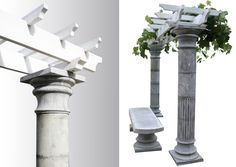 Tuscany Columns/ Roman Style.  Column Molds.  Maybe we should do this instead!! Then we could put lights on the outside of the columns!!!!