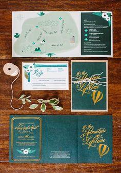 Love the invitations. QLD-scottish-green-irish-wild-hunting-wedding-theme