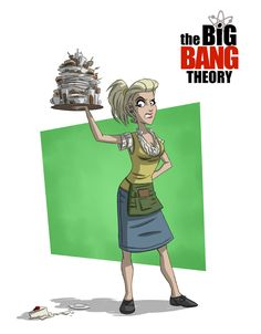 Penny at the Cheesecake Factory ~ The Big Bang Theory by Otis Frampton
