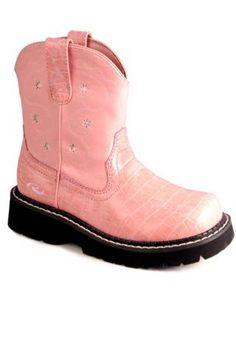 Roper Chunk 2 Faux Leather Pink Chunk Kids Chunks Series 11 Boots - Urban Western Wear