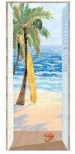 Beach View & Surfboard Window Mural  (would be great in sunroom)
