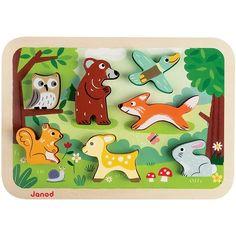 #Janod - Chunky puzzel bosdieren - #Woodland  #littlethingz2