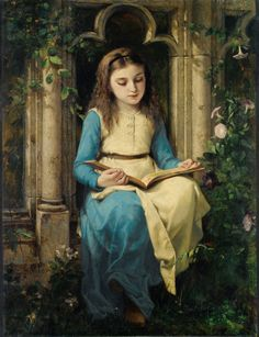 Jeune Fille Lisant. Charles-Louis-Lucien Müller (French, 1815-1892). Oil on canvas. Müller was the pupil of Léon Cogniet, Baron Gros and others in the École des Beaux-Arts. In 1837 he exhibited his first picture, Christmas Morning. From 1850 to 1853...