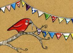 Birdy Bunting by Kimberly Naumann