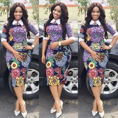 Need to add some colour to your wardrobe? Here are 70 Pictures of currently trending Ankara styles in We give Kudos to the exceptional stylists, and designers who put together these lovely pieces. Modern Ankara Styles in Vogue Short Ankara Dresses, Ankara Dress Styles, Ankara Gowns, African Print Dresses, African Print Fashion, Africa Fashion, African Dress, African Prints, Ankara Blouse