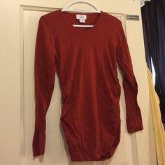 Maternity sweater Brick red colored maternity sweater Motherhood Maternity Tops