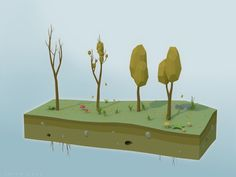 Autumn Trees [Low-Poly] by AkiGD on DeviantArt