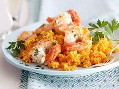 Scampi on Couscous Recipe : Giada De Laurentiis : Recipes : Cooking Channel