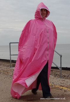 Flottes Regencape mit Reißverschluß