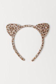 Hairband with Ears - Light brown/leopard print - Kids Girls Jewelry, Girls Hair Accessories, Hair Jewelry, Leopard Ears, Brown Leopard, Cat Ears Headband, Diy Friendship Bracelets Patterns, Cute Headbands, Headband Pattern
