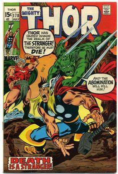 marvel cover art for the incredable hulk vs abomination   Thor vs. Abomination   Comic Book Artwork