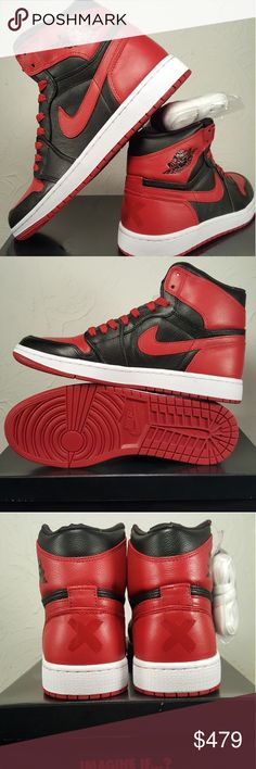 low priced b3805 7850a Air Jordan 1 Retro High Og  Banned 2011  size 8.5 Brand New With Box