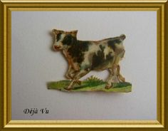 Victorian die cut : cow, € 2.50. www.dejavu.marktplaza.nl