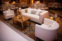 Plush Lounge Seating    Photography: Kimberly Jarman Photography   Read More:  http://www.insideweddings.com/weddings/brittany-brannon-and-anthony-kennada/590/