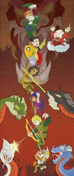 D is for Dungeons and Dragons by happymonkeyshoes.deviantart.com