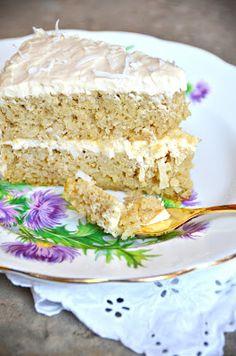 Looks amazing! Coconut Flour cake with cream cheese frosting #coconutflour #paleo #glutenfree