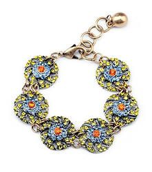 Lottie Loves Me - Vintage inspired link bracelet with round rhinestone accents